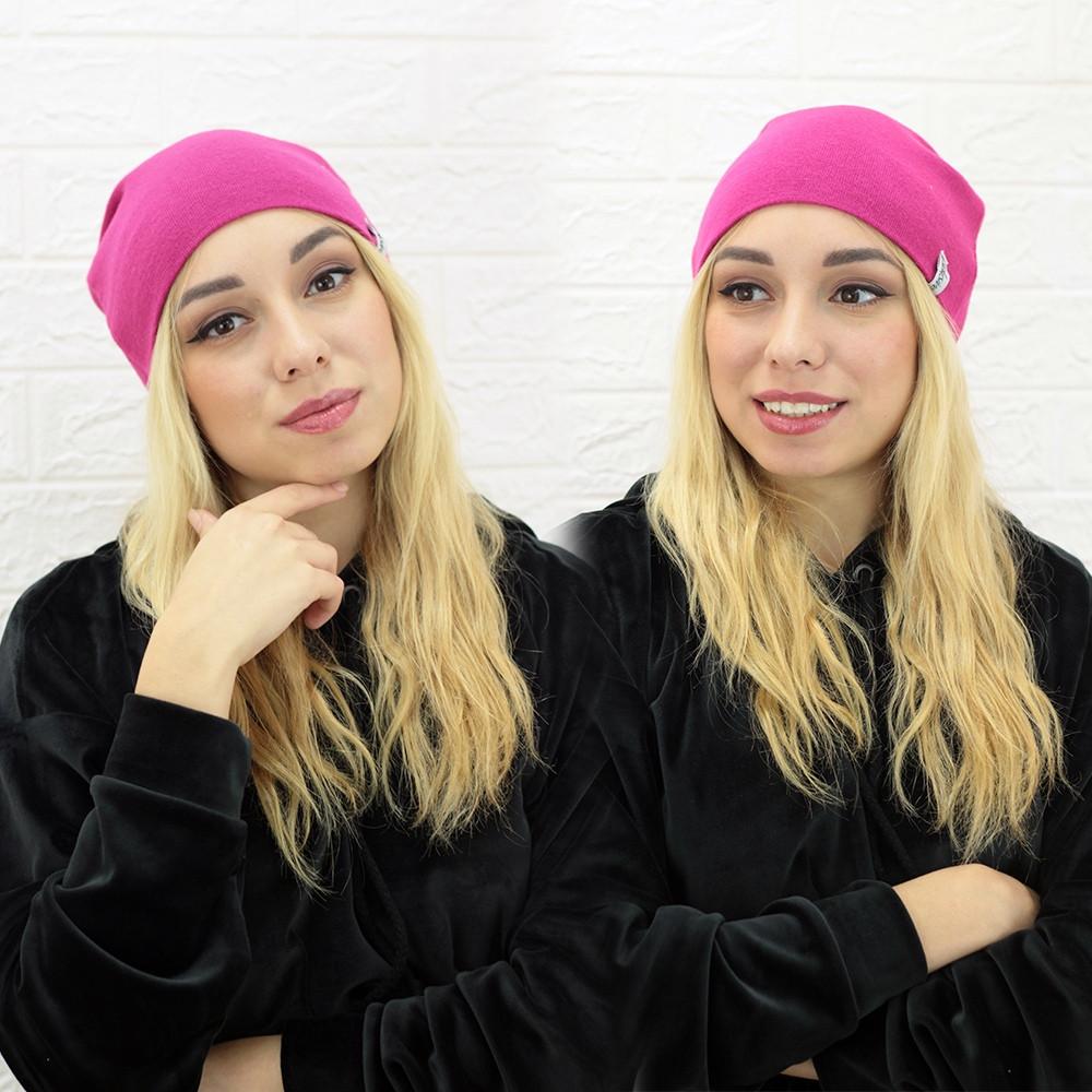 Женская теплая однотонная шапка из ангоры