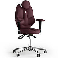Кресло KULIK SYSTEM TRIO Экокожа с подголовником без строчки Бордовый 14-901-BS-MC-0208, КОД: 1676909