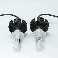 Комплект автомобильных светодиодных LED ламп для фар Авто X3 H7 6000Lm 6500K 50W Головной свет Лед