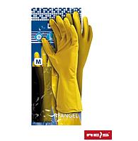 Перчатки защитные из латекса Reis (RFY) желтые хозяйственные