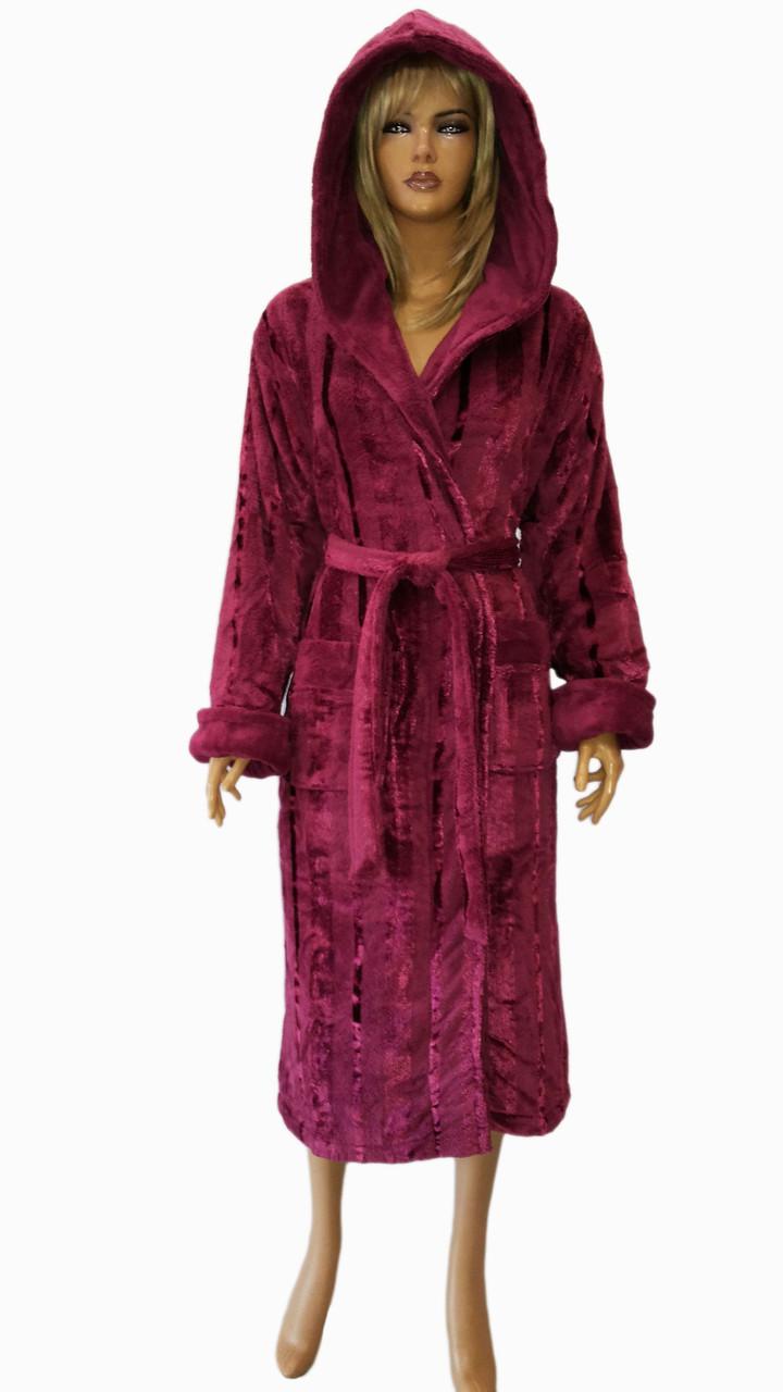 Халат женский soft (стриженная махра) NUSA