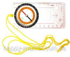 Компас DS45-2В аллюминий + лупа и линейка