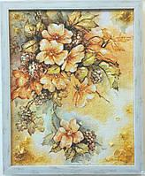 Натюрморт Ветка цветов с виноградом на холсте Н-274 Гранд Презент 40*50