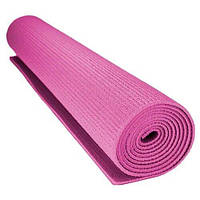 Коврик для йоги и фитнеса Power System Розовый