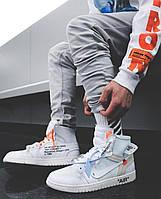 Мужские кроссовки Nike Air Jordan 1 Retro High Off-White White