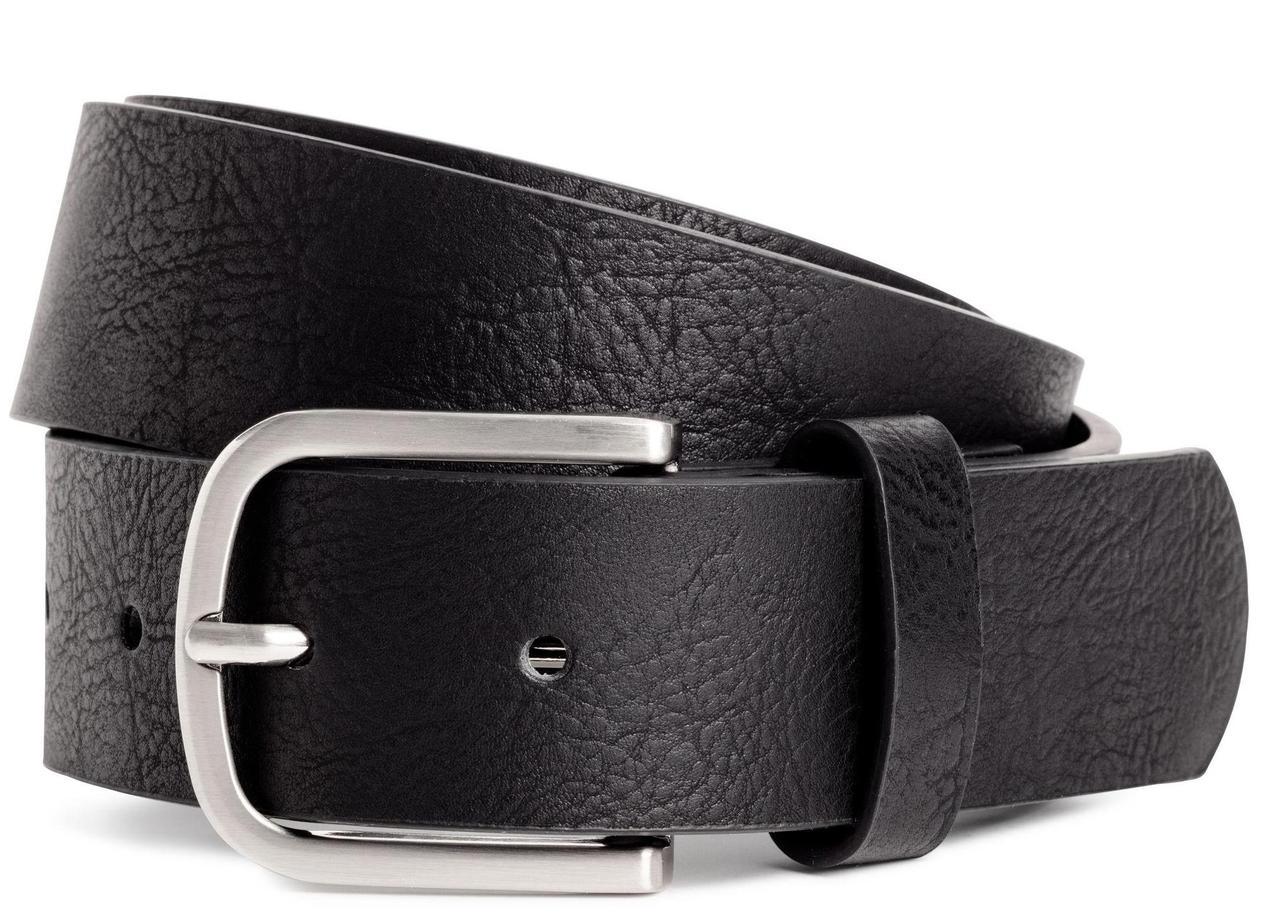 Мужской ремень для брюк из эко кожи H&M черный