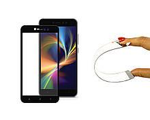Защитное 5D cтекло Nano Flexible GLASS ITOP для Xiaomi Redmi Note 5A Prime Full Cover Черный, КОД: 728725