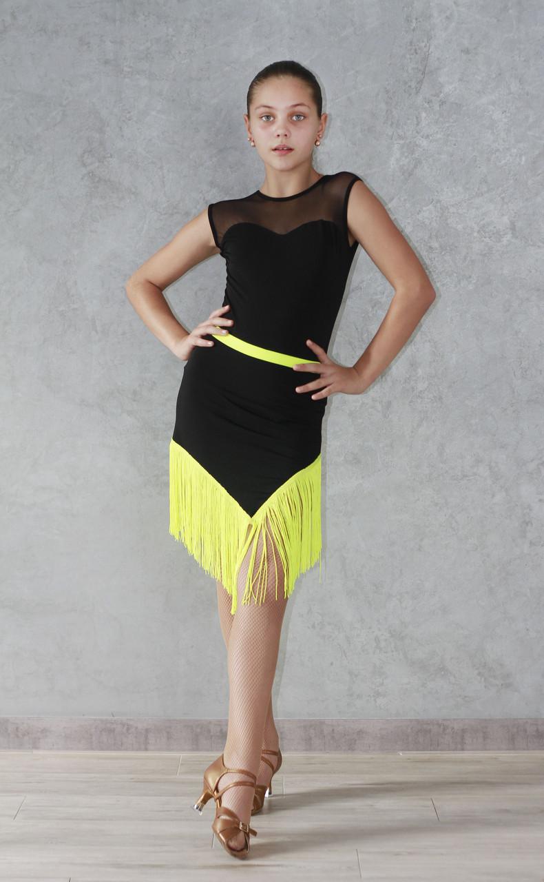Юбка для танцев с бахромой Sevenstore 8129 Лимон