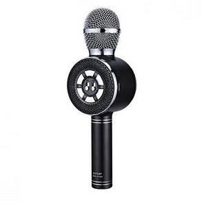 Беспроводной караоке микрофон с подсветкой WS-669 Bluetooth Черный, фото 2
