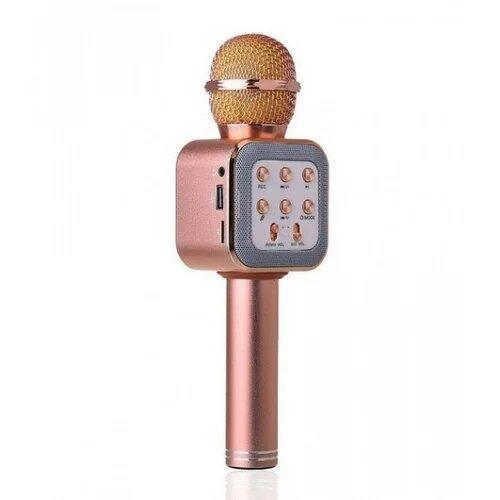 Беспроводной микрофон-караоке WS-1818 Розовое Золото