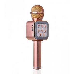 Беспроводной микрофон-караоке WS-1818 Розовое Золото, фото 2