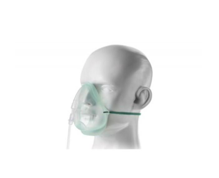Маска кислородная EcoLite Intersurgical для взрослых с кислородной трубкой 2.1м