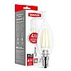 LED лампа MAXUS (filam), C37 TL, 4W, яскраве світло,E14 (1-LED-540-01)
