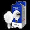 LED лампа GLOBAL G45 F 5W тепле світло E14 (1-GBL-143)