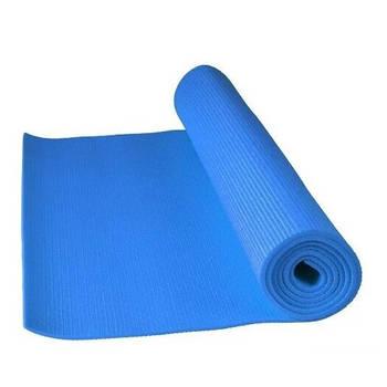 Килимок для йоги та фітнесу Power System Блакитний