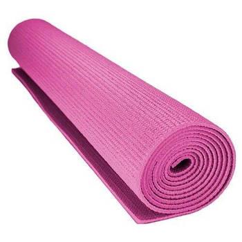 Килимок для йоги та фітнесу Power System Рожевий
