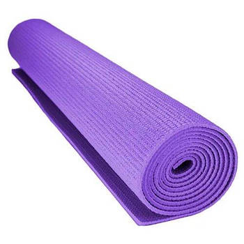 Килимок для йоги та фітнесу Power System Фіолетовий