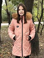 Зимове пальто для дівчаток, фото 1