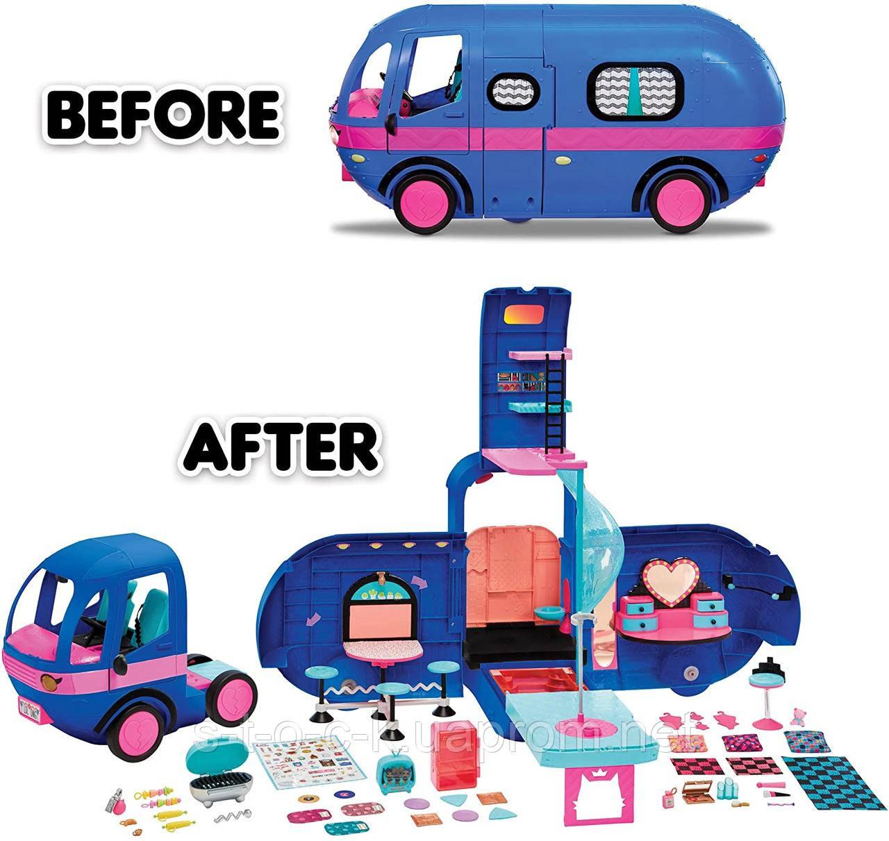 Гламурный обновленный Кемпер LOL Surprise Glamper Fashion Camper-Electric Blue 569459