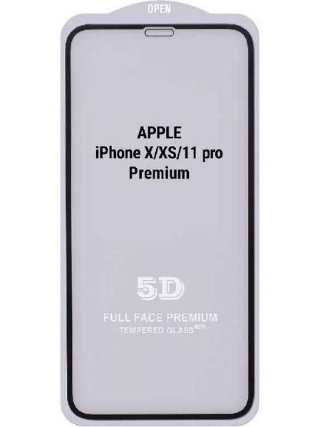 Захисне скло 10D iPhone X/XS/11Pro (чорний) Elephant Premium без уп.