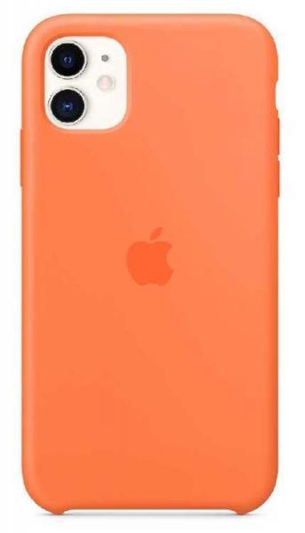Чехол Apple Silicone Case iPhone 11 (Orange)