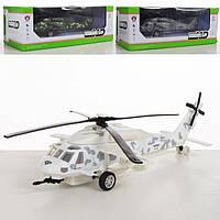 Вертолет инерционный, ездит, со световыми и звуковыми эффектами, длина 28 см, работает от батареек, WY101B