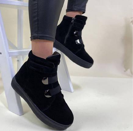 Жіночі зимові черевики BR-S натуральна замша чорні 38 р. - 24,5 см 1258098154, фото 2