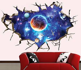 Интерьерная наклейка 3D Вселенная  (60х90см)