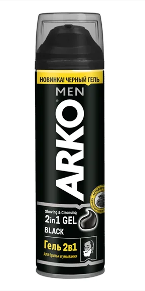 Гель для бритья ARKO 2 в 1 Black (200мл.)