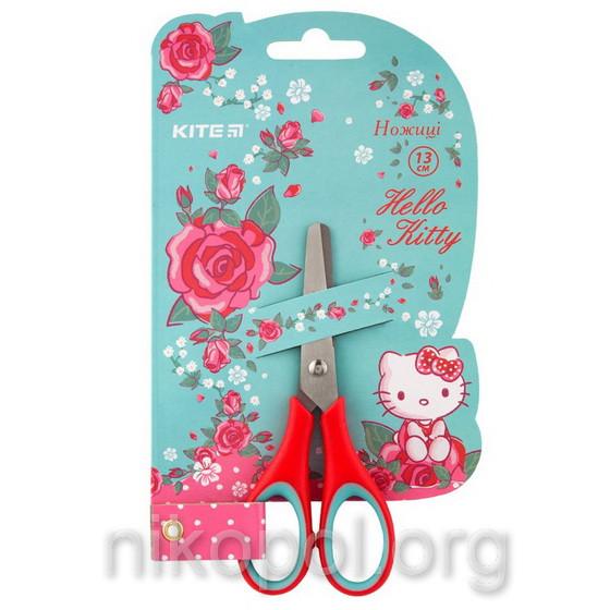 Ножницы детские Kite HK19-123 для девочек, с резиновыми вставками (Hello Kitty) 13см.