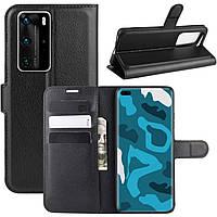 Чехол-книжка Litchie Wallet для Huawei P40 Pro Black
