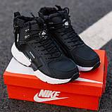 Кроссовки мужские зимние Nike Air Huarache Acronym black/white (Реплика ААА), фото 5