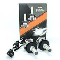 Комплект автомобильных светодиодных LED ламп для фар авто S9 H4 8000Lm 6500K Головной свет Лед