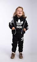 """Е168/2 Детский костюм-тройка  на флисе """"Adidas"""""""