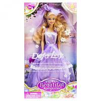 """Кукла невеста """"Defa Lucy"""" (в фиолетовом платье), DEFA, куклы,игрушки для девочек,детские игрушки,пупс"""