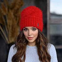 """В'язана шапка """"Шакіра"""" колір червоний"""