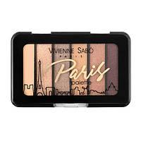 Vivienne Sabo Палетка теней для век Eyeshadow Mini Palette Paris 3 - нюдовые оттенки Grand Opera