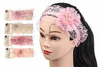 (Цена за 12 шт.) Повязка детская со звездочкой на голову Cucurbita разные цвета, детские повязки, фото 1