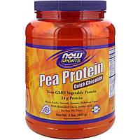 Гороховый Протеин, Вкус Шоколада, Now Foods, 2 фунта (907 гр)