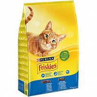 Сухой корм для кошек Purina Friskies Adult с 10 лосось