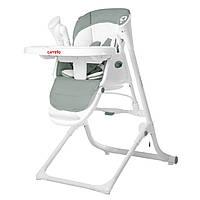 Стульчик для кормления кресло-качалка шезлонг оливковый Carrello Triumph с пультом от рождения до 3-х лет