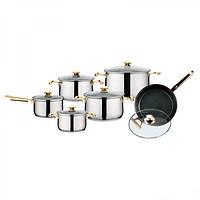 Набор посуды (Набор кастрюль) 12 предметов Peterhof PH-15142