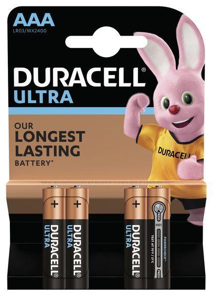 Батарейки Duracell Ultra Power AAA/LR03 BL 4шт