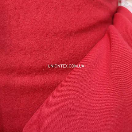 Футер трехнитка с начесом красная, Турция, фото 2