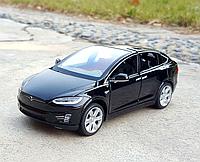 Коллекционная машинка 1:32 Tesla Model X металлическая модель в масштабе 1:32
