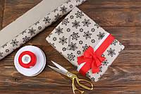 Бумага крафт упаковочная новогодняя