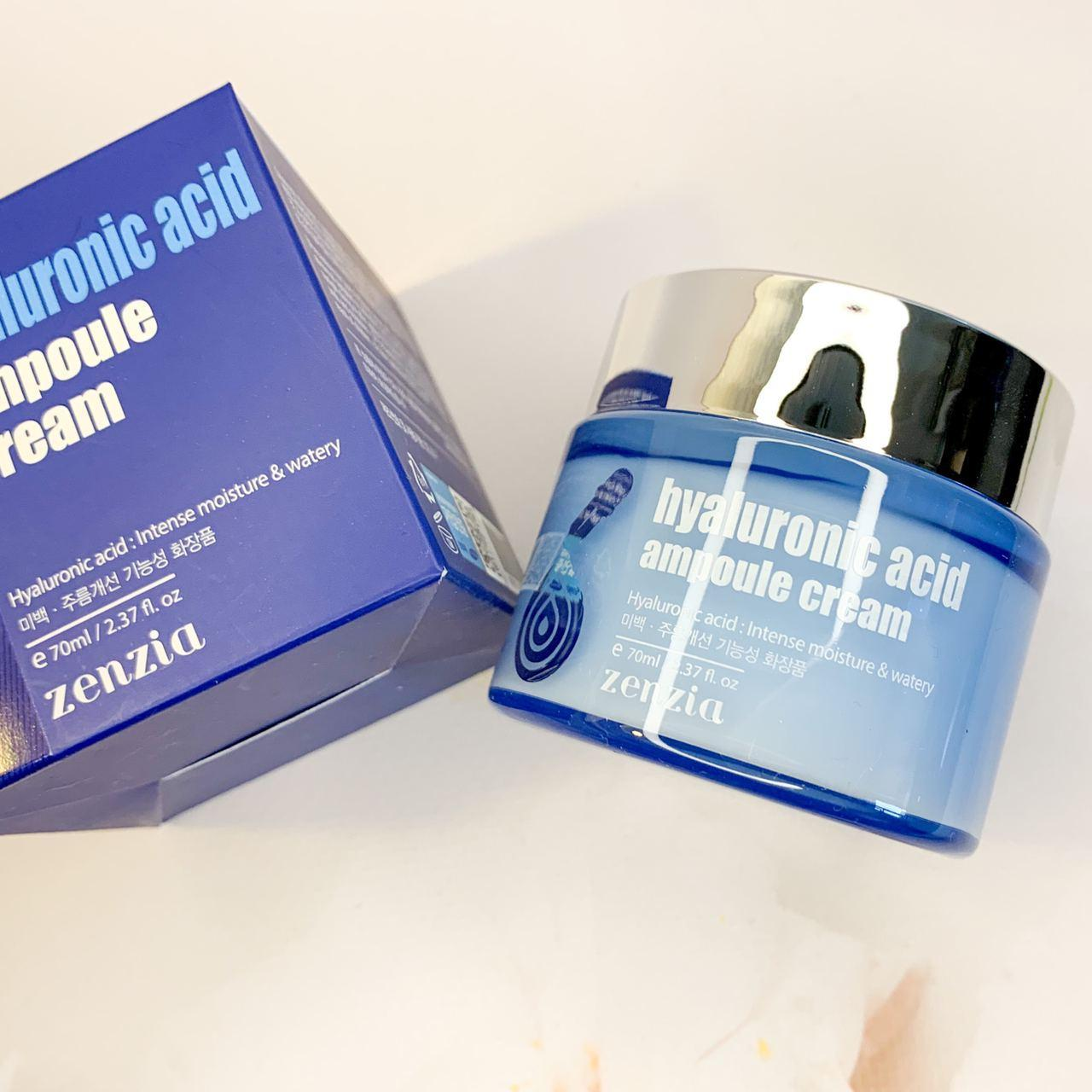 Крем с гиалуроновой кислотой Zenzia, Hyaluronic Acid Ampoule Cream 70мл