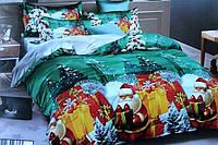 """3D Комплект постельного белья двуспального размера """"Ranforce"""" Новый Год"""