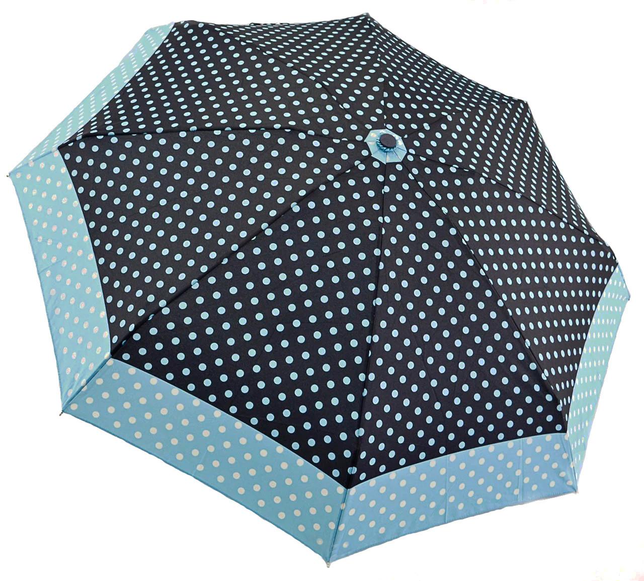 Карманный механический женский зонтик в горошек длиной 18 см RST 1282523562