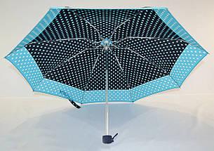 Карманный механический женский зонтик в горошек длиной 18 см RST 1282523562, фото 3